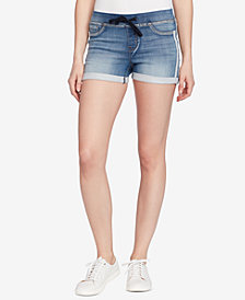 Black Daisy Juniors' Pull-On Denim Shorts