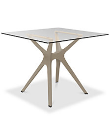 Vela Side Table with Glass Top, Quick Ship