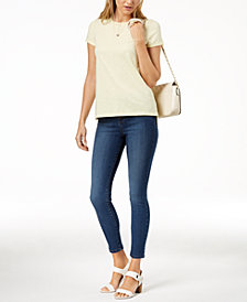Maison Jules High-Low T-Shirt & Skinny Jeans, Created for Macy's
