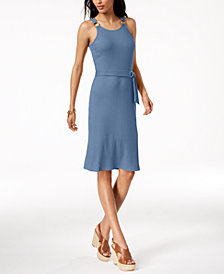MICHAEL Michael Kors Petite Ribbed Dress