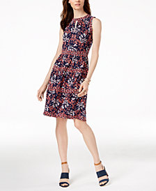 MICHAEL Michael Kors Printed Keyhole Dress, in Regular & Petite Sizes