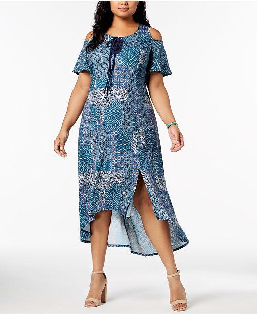 NY Collection Plus & Petite Plus Size Cold-Shoulder Dress & Reviews ...