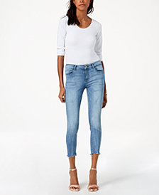 DL 1961 Florence Cropped Frayed Skinny Jeans