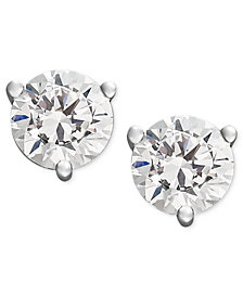 Certified Near Colorless Diamond Stud Earrings in 18k White Gold or Gold (1/4 ct. t.w.)