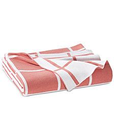 Charter Club Damask Designs Reversible Windowpane Throw, Created for Macy's