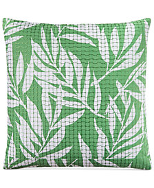 "Charter Club Damask Designs Palm 110-Thread Count 20"" x 20"" Decorative Pillow, Created for Macy's"