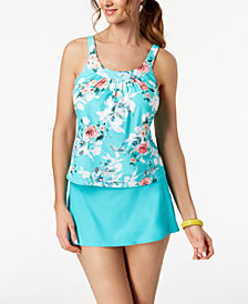 Coco Reef Bra-Sized Underwire Tankini Top & Swim Skirt
