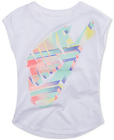 Nike Little Girls Painted Desert-Print Cotton T-Shirt