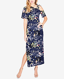 RACHEL Rachel Roy Printed Asymmetrical Maxi Dress