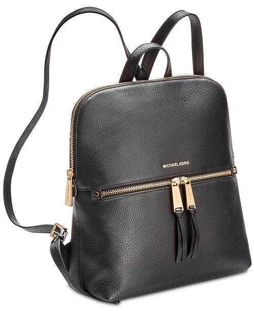 8cf98750c19dde Michael Kors Rhea Slim Pebble Leather Backpack & Reviews - Handbags ...