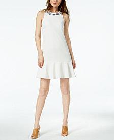 Trina Turk Fizz Embellished Flounce Dress