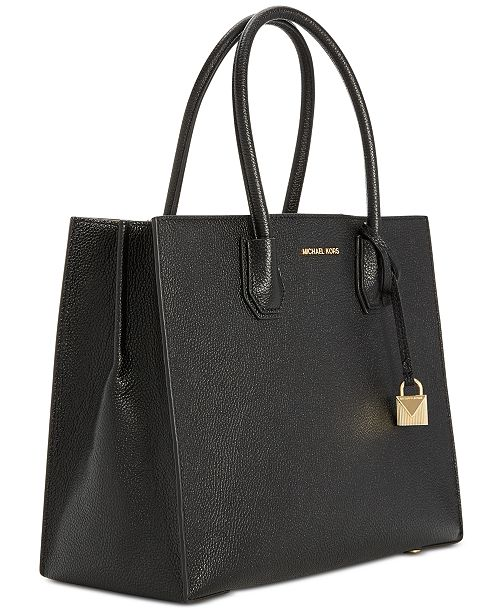 Michael Kors Mercer Pebble Leather Tote - Handbags   Accessories ... f7a9a7c96f