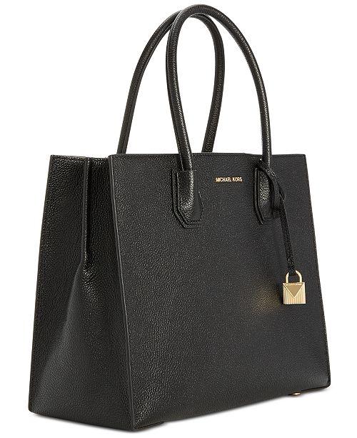 001e6f56dd604 Michael Kors Mercer Pebble Leather Tote   Reviews - Handbags ...