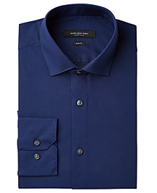Marc New York Men's Slim-Fit Wrinkle-Free Navy Solid Dress Shirt