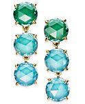 Kate Spade New York Gold-tone Stone Triple Drop Earrings