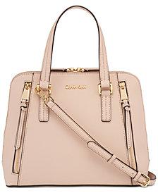 Calvin Klein Josie Leather Satchel