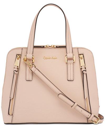Calvin Klein Josie Leather Small Satchel