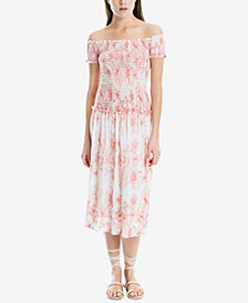 Max Studio London Smocked-Bodice Maxi Dress, Created for Macy's