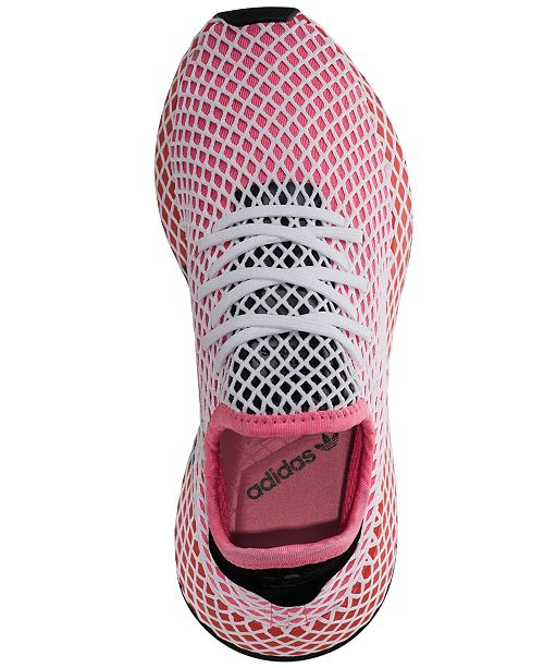 reputable site 5cfbf 593b9 adidas Women s Deerupt Runner Casual Sneakers from Finish ...