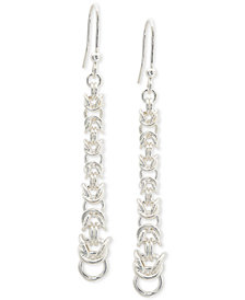 Giani Bernini Byzantine Chain Drop Earrings in Sterling Silver, Created for Macy's