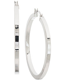 Giani Bernini Square Tube Hoop Earrings in Sterling Silver, Created for Macy's