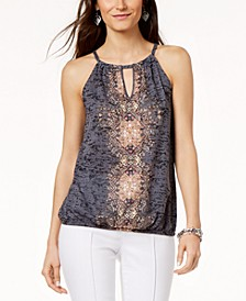INC Embellished Keyhole Top, Created for Macy's