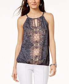 I.N.C. Embellished Keyhole Top, Created for Macy's