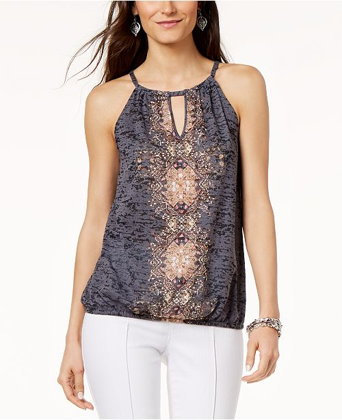 INC International Concepts INC Embellished Keyhole Top, Created for Macy's