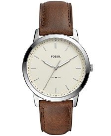 Fossil Minimalist Collection Leather Strap Watches