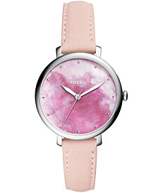 Fossil Women's Jacqueline Blush Leather Strap Watch 36mm