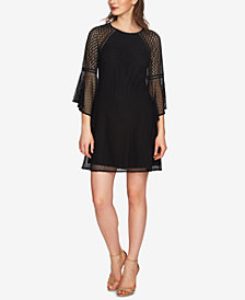 CeCe Bell-Sleeve Lace Shift Dress