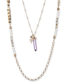 Lonna & Lilly - Mother Of Pearl And Crystal Initial Pendant Necklace - Lyst