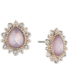 Marchesa Gold-Tone Stone & Crystal Stud Earrings