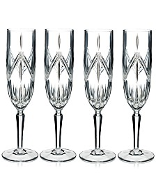 Marquis by Waterford Lacey Flutes, Set of 4