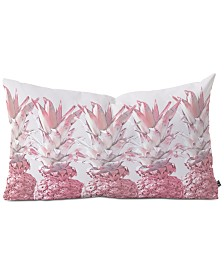 Deny Designs Pineapple Blush Jungle Oblong Decorative Pillow