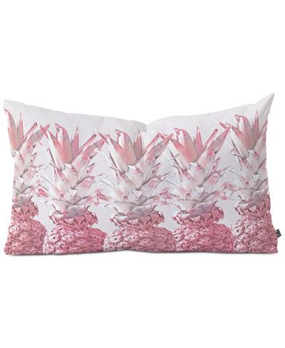 Deny Designs Pineapple Blush Jungle Oblong Decorative Pillow