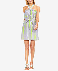 Vince Camuto Fringe-Trim Halter Dress