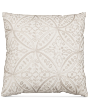 Hallmart Collectibles Beige Embroidered 20 Square Decorative Pillow