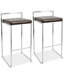 Fuji Bar Stool (Set of 2), Quick Ship