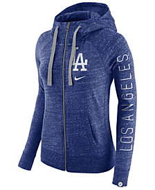 Nike Women's Los Angeles Dodgers Gym Vintage Full Zip Hooded Sweatshirt