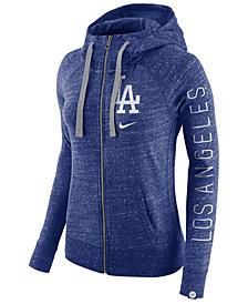 Nike Women's Los Angeles Dodgers Gym Vintage Full Zip Hooded Sweatshirt