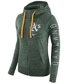 Nike Women's Oakland Athletics Gym Vintage Full Zip Hooded Sweatshirt