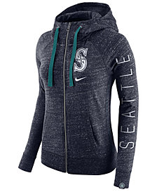 Nike Women's Seattle Mariners Gym Vintage Full Zip Hooded Sweatshirt