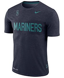 Nike Men's Seattle Mariners Dri-Fit Slub Stripe T-Shirt