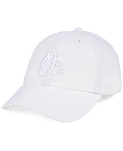 '47 Brand Baltimore Orioles White/White CLEAN UP Cap