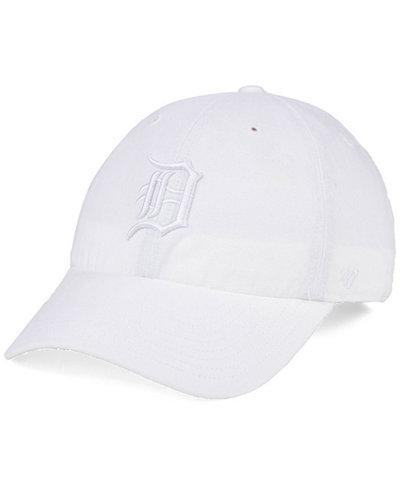 '47 Brand Detroit Tigers White/White CLEAN UP Cap