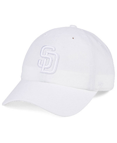 '47 Brand San Diego Padres White/White CLEAN UP Cap