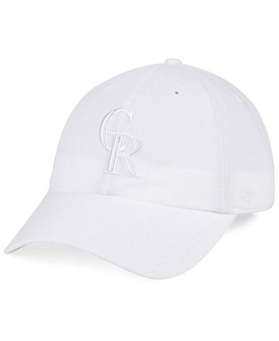 '47 Brand Colorado Rockies White/White CLEAN UP Cap