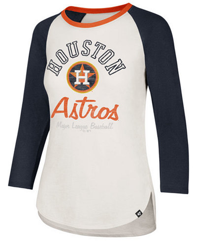 '47 Brand Women's Houston Astros Vintage Raglan T-Shirt
