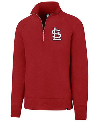 '47 Brand Men's St. Louis Cardinals Headline Quarter-Zip Pullover